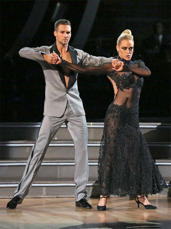 "<div class=""meta image-caption""><div class=""origin-logo origin-image ""><span></span></div><span class=""caption-text"">James Maslow and Peta Murgatroyd dance the Tango on week 10 of 'Dancing With The Stars' on May 19, 2014. They received 29 out of 30 points from the judges. The pair also received 29 out of 30 points for their Rumba. (ABC/Adam Taylor)</span></div>"