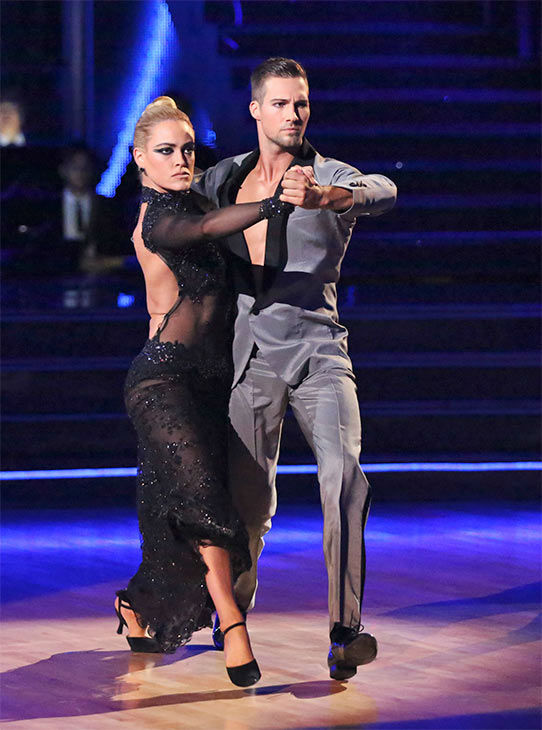 James Maslow and Peta Murgatroyd dance the Tango on week 10 of &#39;Dancing With The Stars&#39; on May 19, 2014. They received 29 out of 30 points from the judges. The pair also received 29 out of 30 points for their Rumba. <span class=meta>(ABC&#47;Adam Taylor)</span>