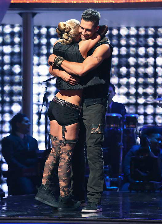 James Maslow and Peta Murgatroyd react to being eliminated on week 10 of &#39;Dancing With The Stars&#39; on May 19, 2014. They received 29 out of 30 points from the judges for their Tango and 29 out of 30 points for their Freestyle. <span class=meta>(ABC&#47;Adam Taylor)</span>