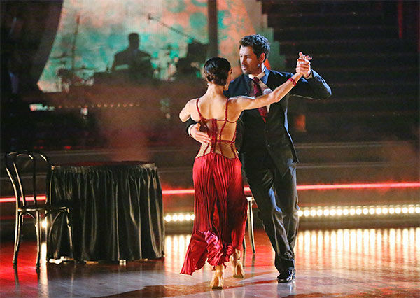 Meryl Davis and Maksim Chmerkovskiy dance the Argentine Tango on week 10 of &#39;Dancing With The Stars&#39; on May 19, 2014. They received 30 out of 30 points from the judges. The pair also received 30 out of 30 points for their Freestyle. <span class=meta>(ABC&#47;Adam Taylor)</span>