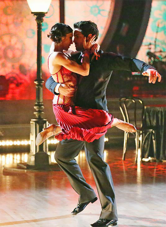 "<div class=""meta image-caption""><div class=""origin-logo origin-image ""><span></span></div><span class=""caption-text"">Meryl Davis and Maksim Chmerkovskiy dance the Argentine Tango on week 10 of 'Dancing With The Stars' on May 19, 2014. They received 30 out of 30 points from the judges. The pair also received 30 out of 30 points for their Freestyle. (ABC/Adam Taylor)</span></div>"