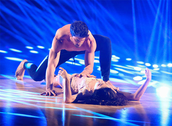 "<div class=""meta image-caption""><div class=""origin-logo origin-image ""><span></span></div><span class=""caption-text"">Meryl Davis and Maksim Chmerkovskiy dance a Freestyle routine on week 10 of 'Dancing With The Stars' on May 19, 2014. They received 30 out of 30 points from the judges. The pair also received 30 out of 30 points for their Argentine Tango. (ABC/Adam Taylor)</span></div>"