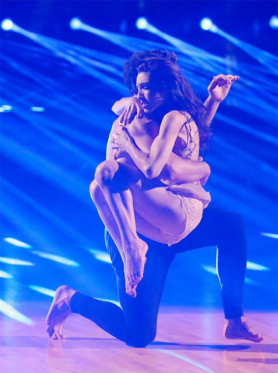 "<div class=""meta ""><span class=""caption-text "">Meryl Davis and Maksim Chmerkovskiy dance a Freestyle routine on week 10 of 'Dancing With The Stars' on May 19, 2014. They received 30 out of 30 points from the judges. The pair also received 30 out of 30 points for their Argentine Tango. (ABC/Adam Taylor)</span></div>"