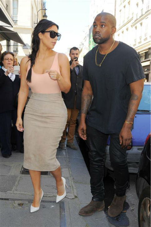 Kim Kardashian and Kanye West go shopping in Paris on May 19, 2014. <span class=meta>(Beretta &#47; Sims &#47; REX &#47; Startraksphoto.com)</span>
