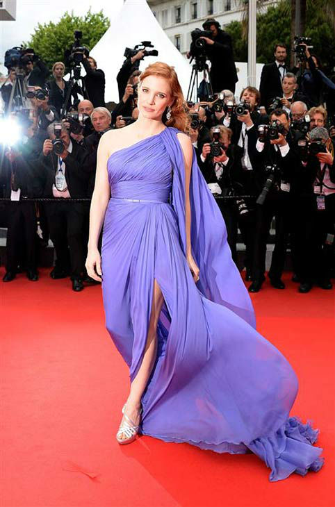 Jessica Chastain appears at the premiere of &#39;The Foxcatcher&#39; during the 67th Cannes Film Festival on May 19, 2014. <span class=meta>(Nicolas Briquet&#47;Abaca&#47;startraksphoto.com)</span>