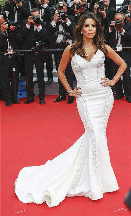 Eva Longoria appears at the &#39;Saint Laurent&#39; premiere during 67th Cannes Film Festival on May 17, 2014. <span class=meta>(Graham Whitby Boot&#47;startraksphoto.com)</span>