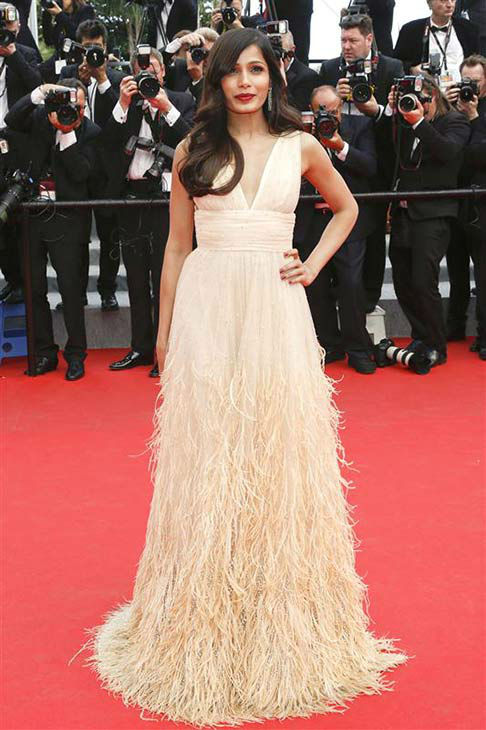 "<div class=""meta ""><span class=""caption-text "">Freida Pinto appears at the premiere of 'Saint Laurent' during 67th Cannes Film Festival on May 17, 2014. (Graham Whitby Boot/startraksphoto.com)</span></div>"
