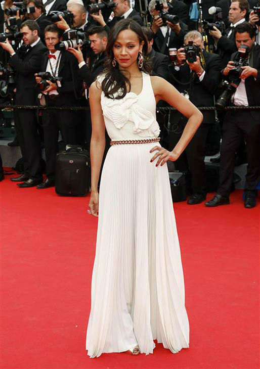 Zoe Saldana appears at the premiere of &#39;Grace of Monaco&#39; during 67th Cannes Film Festival on May , 2014. <span class=meta>(GRAHAM WHITBY BOOT&#47;Startraksphoto.com)</span>