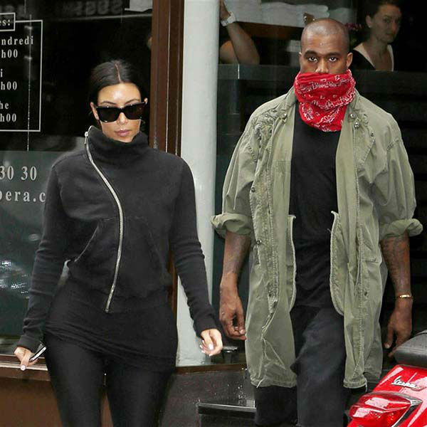 Kim Kardashian and Kanye West appear at L&#39;Usine Gym in Paris on May 21, 2014.  <span class=meta>(Beretta&#47;Sims&#47;REX&#47;Startraksphoto.com)</span>
