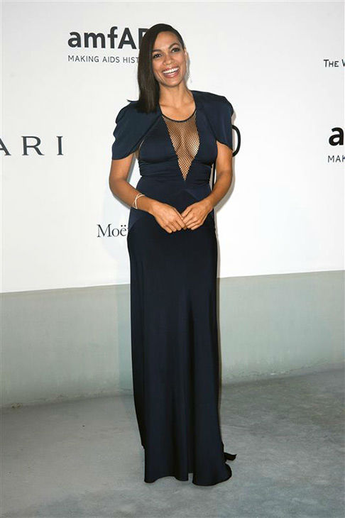 Rosario Dawson arrives at the amfAR Cinema Against AIDS benefit during the 67th Cannes International Film Festival in southern France on Thursday, May 22, 2014. <span class=meta>(Lionel Hahn&#47;Abaca&#47;startraksphoto.com)</span>