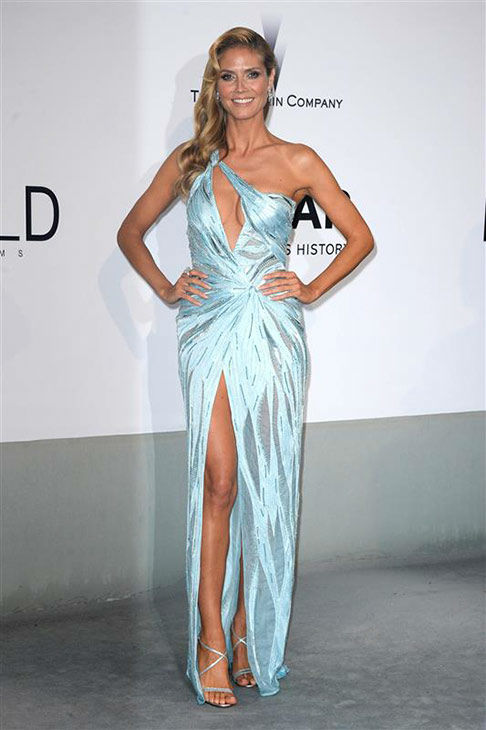 "<div class=""meta ""><span class=""caption-text "">Heidi Klum arrives at the amfAR Cinema Against AIDS benefit during the 67th Cannes International Film Festival in southern France on Thursday, May 22, 2014. (Lionel Hahn/Abaca/startraksphoto.com)</span></div>"