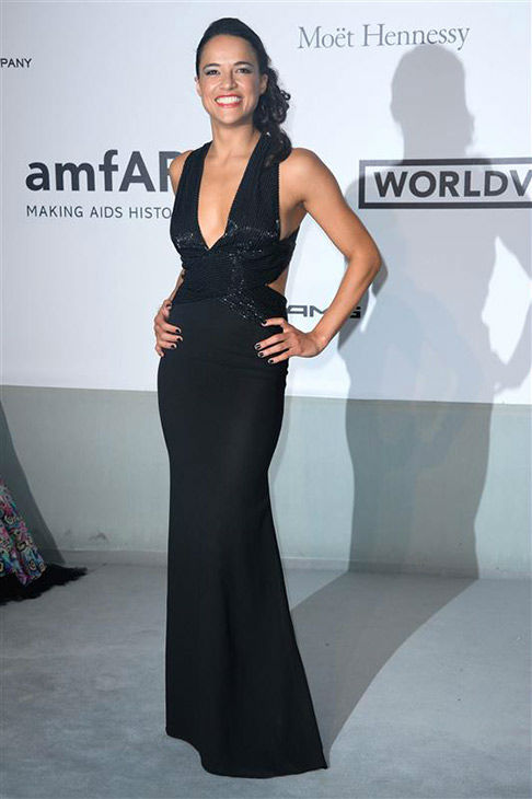 Michelle Rodriguez arrives at the amfAR Cinema Against AIDS benefit during the 67th Cannes International Film Festival in southern France on Thursday, May 22, 2014. <span class=meta>(Lionel Hahn&#47;Abaca&#47;startraksphoto.com)</span>