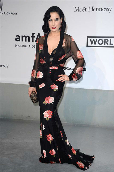 Dita Von Teese arrives at the amfAR Cinema Against AIDS benefit during the 67th Cannes International Film Festival in southern France on Thursday, May 22, 2014. <span class=meta>(Lionel Hahn&#47;Abaca&#47;startraksphoto.com)</span>