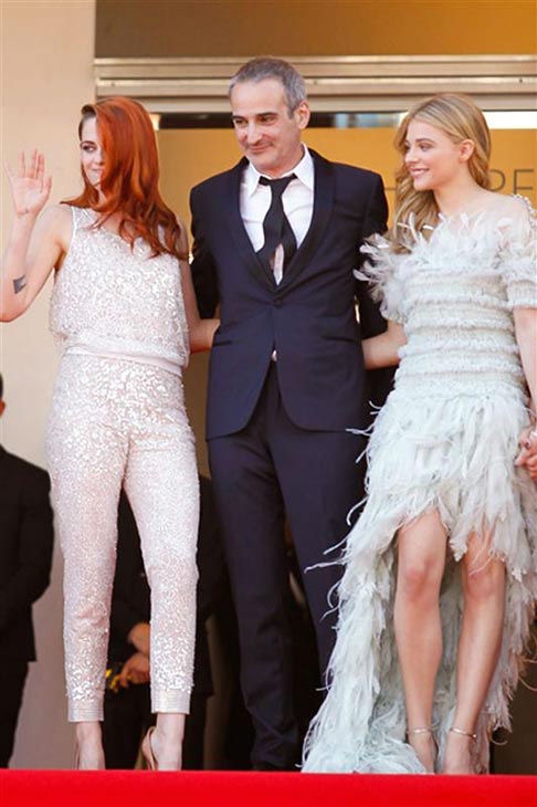Kristen Stewart, Chloe Grace Moretz, Olivier Assayas appear at the &#39;Clouds of Sils Maria&#39; screening at the 67th Cannes Film Festival on May 23, 2014. <span class=meta>(Graham Whitby Boot&#47;startraksphoto.com)</span>