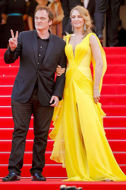 Uma Thurman, Quentin Tarantino appear at the &#39;Clouds of Sils Maria&#39; screening at the 67th Cannes Film Festival on May 23, 2014. <span class=meta>(Graham Whitby Boot&#47;startraksphoto.com)</span>