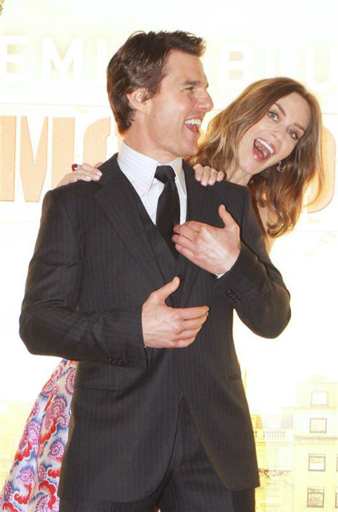Emily Blunt and Tom Cruise appear at the premiere of &#39;Edge of Tomorrow&#39; in London on May 27, 2014. <span class=meta>(Richard Young &#47; REX &#47; Startraksphoto.com)</span>