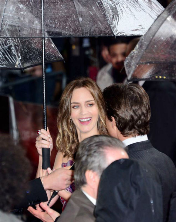 Emily Blunt and Tom Cruise appear at the premiere of &#39;Edge of Tomorrow&#39; in London on May 27, 2014. <span class=meta>(Nils Jorgensen &#47; Startraksphoto.com)</span>