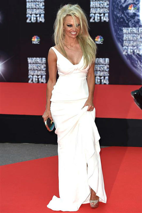 Pamela Anderson appears at the 2014  World Music Awards in Monte Carlo on May 27, 2014. <span class=meta>(Nicolas Gouhier&#47;Abaca&#47;startraksphoto.com)</span>
