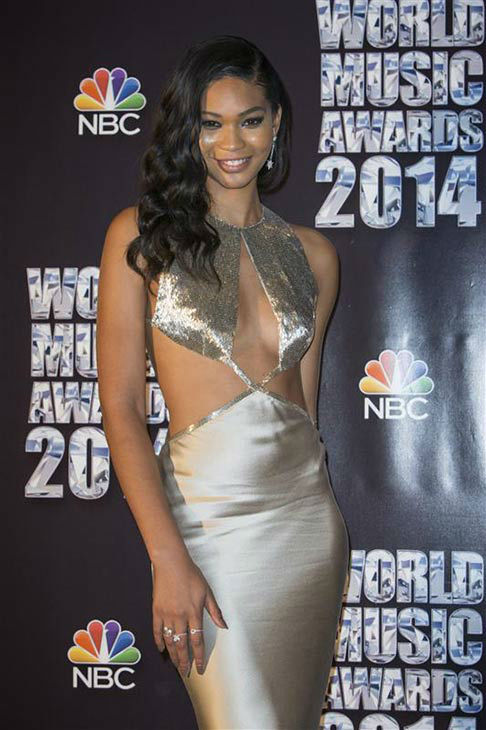 Chanel Iman appears at the 2014  World Music Awards in Monte Carlo on May 27, 2014. <span class=meta>(Marco Piovanotto&#47;startraksphoto.com)</span>