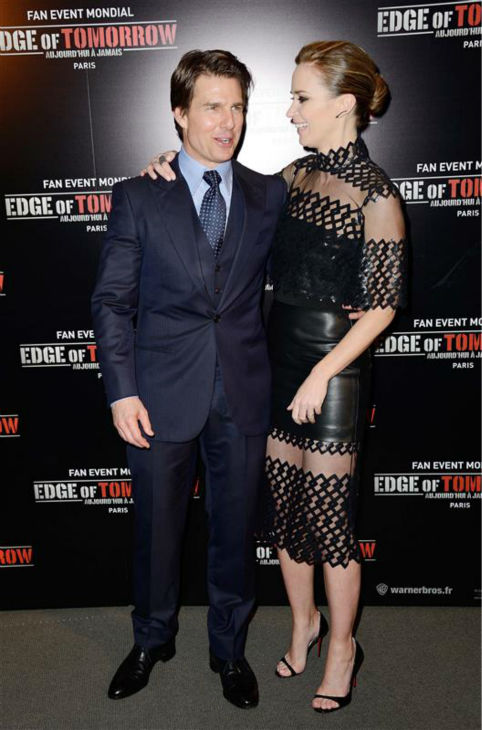 "<div class=""meta image-caption""><div class=""origin-logo origin-image ""><span></span></div><span class=""caption-text"">Emily Blunt and Tom Cruise appear at the premiere of 'Edge of Tomorrow' in Paris on May 28, 2014. (Nicolas Genin / Abaca / Startraksphoto.com)</span></div>"