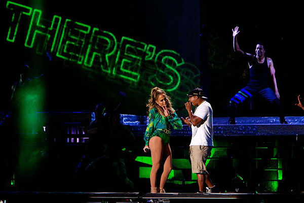 Jennifer Lopez, left, performs with Ja Rule at a free concert at Orchard Beach in Pelham Bay Park in the Bronx, New York on June 4, 2014.  <span class=meta>(Kristina Bumphrey&#47;Startraksphoto.com)</span>