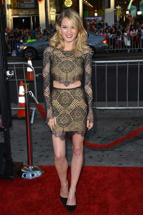 Ashley Hinshaw appears at the &#39;True Blood&#39; season 7 premiere at the TCL Chinese Theater in Hollywood, California on June 17, 2014. <span class=meta>(Tony DiMaio&#47;startraksphoto.com)</span>