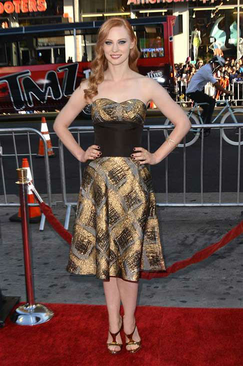Deborah Ann Woll appears at the &#39;True Blood&#39; season 7 premiere at the TCL Chinese Theater in Hollywood, California on June 17, 2014. <span class=meta>(Tony DiMaio&#47;startraksphoto.com)</span>