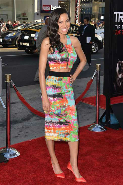 Jurnee Smollett-Bell appears at the &#39;True Blood&#39; season 7 premiere at the TCL Chinese Theater in Hollywood, California on June 17, 2014. <span class=meta>(Tony DiMaio&#47;startraksphoto.com)</span>