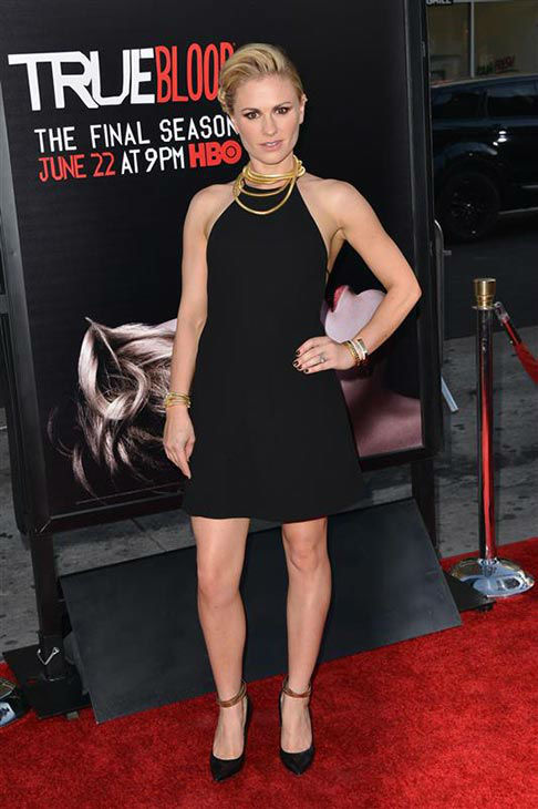 Anna Paquin appears at the &#39;True Blood&#39; season 7 premiere at the TCL Chinese Theater in Hollywood, California on June 17, 2014. <span class=meta>(Tony DiMaio&#47;startraksphoto.com)</span>