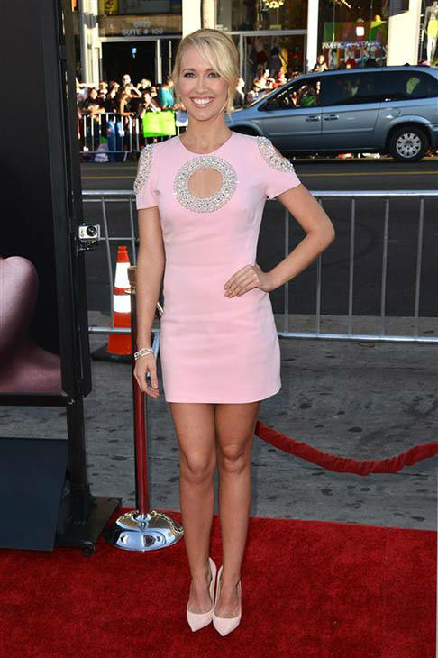 Anna Camp appears at the &#39;True Blood&#39; season 7 premiere at the TCL Chinese Theater in Hollywood, California on June 17, 2014. <span class=meta>(Tony DiMaio&#47;startraksphoto.com)</span>