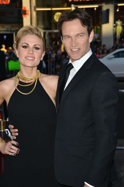Stephen Moyer and Anna Paquin appear at the &#39;True Blood&#39; season 7 premiere at the TCL Chinese Theater in Hollywood, California on June 17, 2014.  <span class=meta>(Tony DiMaio&#47;startraksphoto.com)</span>