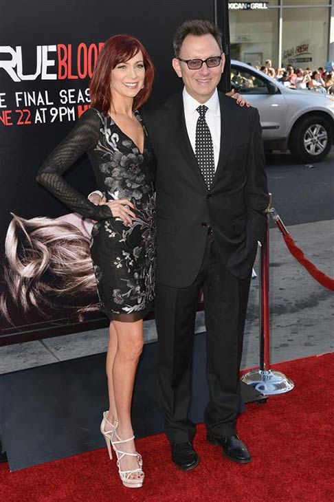 Carrie Preston and Michael Emerson appear at the &#39;True Blood&#39; season 7 premiere at the TCL Chinese Theater in Hollywood, California on June 17, 2014. <span class=meta>(Tony DiMaio&#47;startraksphoto.com)</span>