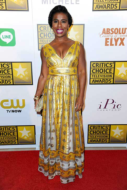 Uzo Aduba arrives at the Critics&#39; Choice Television Awards at the Beverly Hilton Hotel on Thursday, June 19, 2014, in Beverly Hills, Calif.  <span class=meta>(Richard Shotwell&#47;Invision&#47;AP)</span>