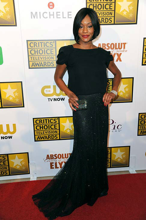 "<div class=""meta ""><span class=""caption-text "">Sufe Bradshaw arrives at the Critics' Choice Television Awards at the Beverly Hilton Hotel on Thursday, June 19, 2014, in Beverly Hills, Calif. (Richard Shotwell/Invision/AP)</span></div>"