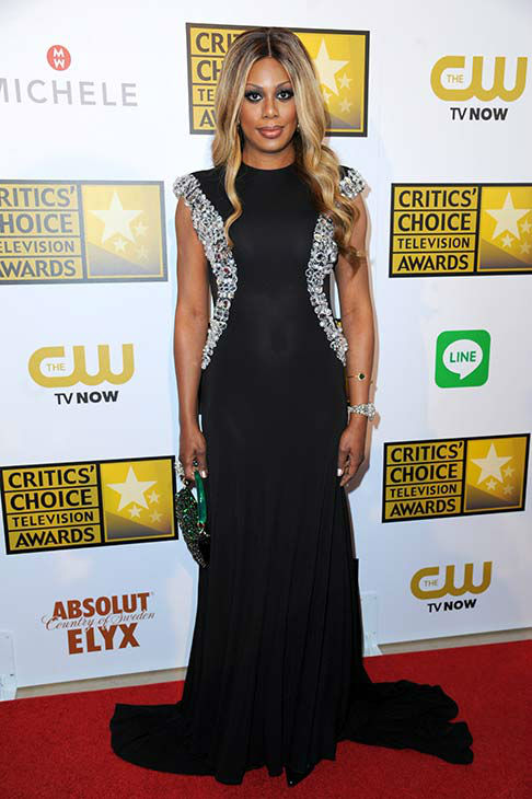 "<div class=""meta ""><span class=""caption-text "">Laverne Cox arrives at the Critics' Choice Television Awards at the Beverly Hilton Hotel on Thursday, June 19, 2014, in Beverly Hills, Calif. (Richard Shotwell/Invision/AP)</span></div>"