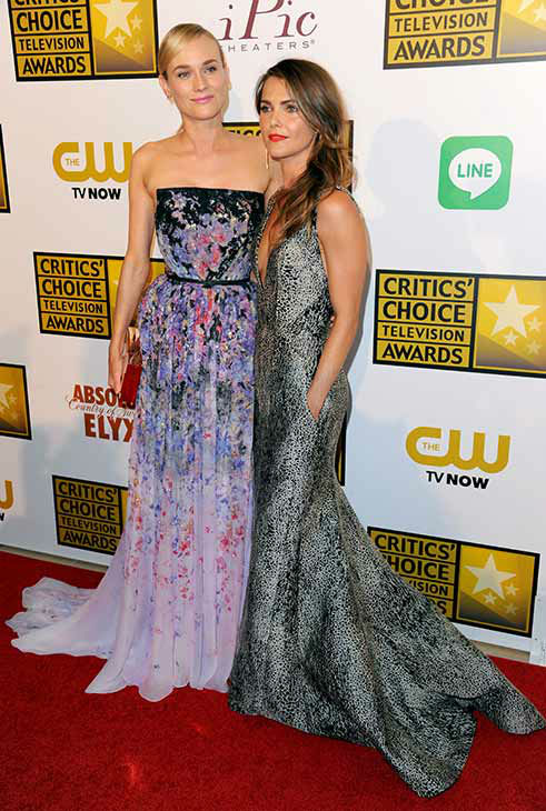 "<div class=""meta ""><span class=""caption-text "">Diane Kruger, left, and Keri Russell arrive at the Critics' Choice Television Awards at the Beverly Hilton Hotel on Thursday, June 19, 2014, in Beverly Hills, Calif.  (Richard Shotwell/Invision/AP)</span></div>"