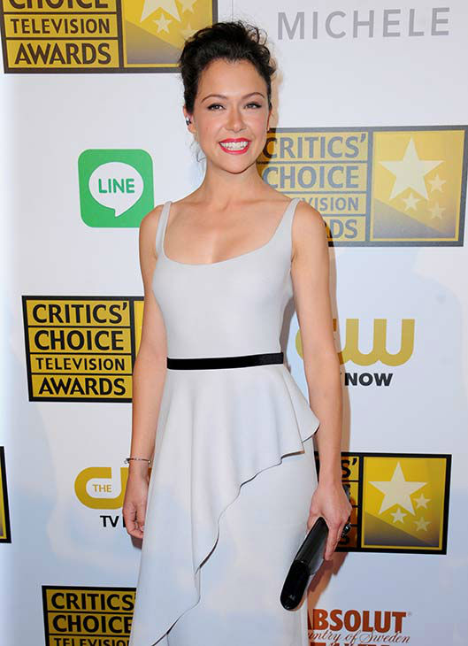 "<div class=""meta ""><span class=""caption-text "">Tatiana Maslany arrives at the Critics' Choice Television Awards at the Beverly Hilton Hotel on Thursday, June 19, 2014, in Beverly Hills, Calif.  (Richard Shotwell/Invision/AP)</span></div>"