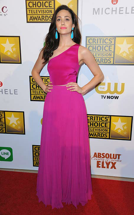 Emmy Rossum arrives at the Critics&#39; Choice Television Awards at the Beverly Hilton Hotel on Thursday, June 19, 2014, in Beverly Hills, Calif.  <span class=meta>(Richard Shotwell&#47;Invision&#47;AP)</span>