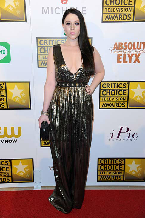 "<div class=""meta ""><span class=""caption-text "">Michelle Trachtenberg arrives at the Critics' Choice Television Awards at the Beverly Hilton Hotel on Thursday, June 19, 2014, in Beverly Hills, Calif.  (Richard Shotwell/Invision/AP)</span></div>"