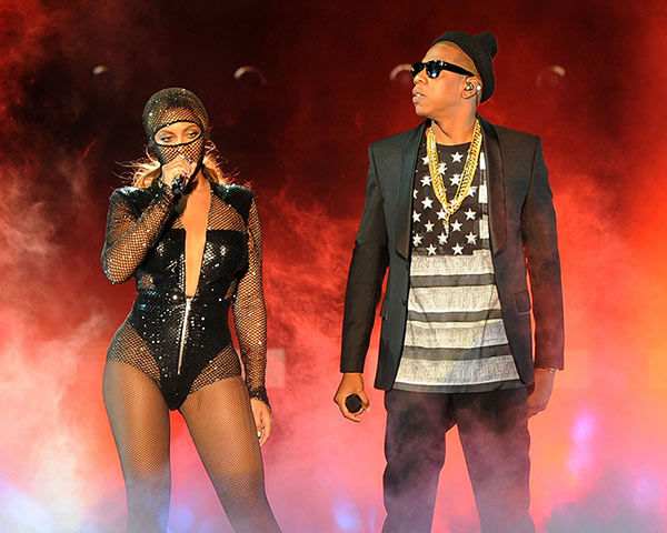 Beyonce and JAY Z perform on the opening night of the On The Run Tour at Sun Life Stadium on Wednesday, June 25, 2014, in Miami, Florida. <span class=meta>(Jeff Daly&#47;Invision for Parkwood Entertainment&#47;AP Images)</span>