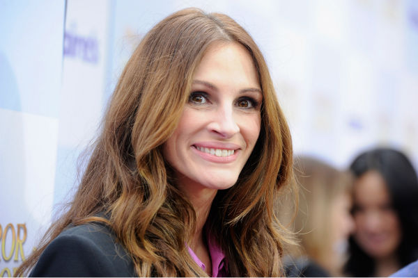 Julia Roberts arrives at the premiere of &#39;Mirror Mirror&#39; at the Grauman&#39;s Chinese Theatre on March 17, 2012 in Hollywood, California.  The actress, who plays the Evil Queen, wore a Balenciaga pantsuit with a pink blouse.  <span class=meta>(Frazer Harrison &#47; Getty Images For Relativity Media)</span>