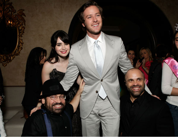 Lily Collins and actor Armie Hammer Armie Hammer attend the after party for the premiere of &#39;Mirror Mirror&#39; at the Roosevelt Hotel on March 17, 2012 in Hollywood, California. Collins plays Snow White and Hammer plays Prince Charming. <span class=meta>(Todd Williamson &#47; Getty Images For Relativity Media)</span>