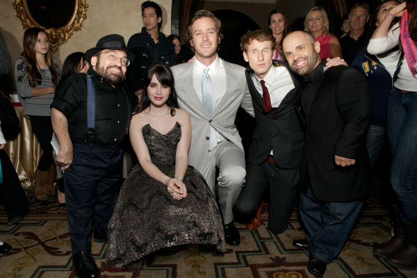 Lily Collins and actor Armie Hammer Armie Hammer...