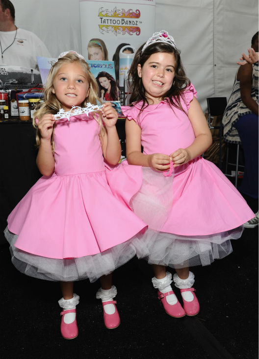 Sophia Grace and Rosie, frequest guests of 'The Ellen DeGeneres Show,' appear at Backstage Creations' Celebrity