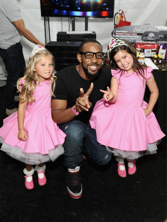 Sophia Grace and Rosie, frequest guests of 'The Ellen DeGeneres Show,' and tWitch appear at Backstage Creations' Celebrity Retreat at the 2012 Teen Choice at the Gibson Amphitheatre in Universal City, California, near Los Angeles on July 22, 2012.