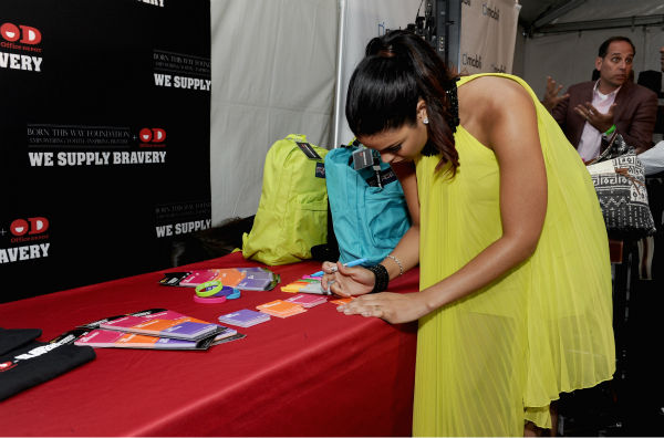Jordin Sparks appears at Backstage Creations'...