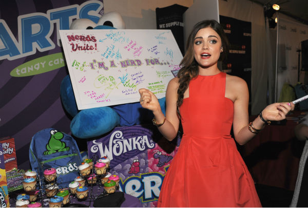 &#39;Pretty Little Liars&#39; star Lucy Hale appears at Backstage Creations&#39; Celebrity Retreat at the 2012 Teen Choice at the Gibson Amphitheatre in Universal City, California, near Los Angeles on July 22, 2012. <span class=meta>(Angela Weiss &#47; WireImage)</span>