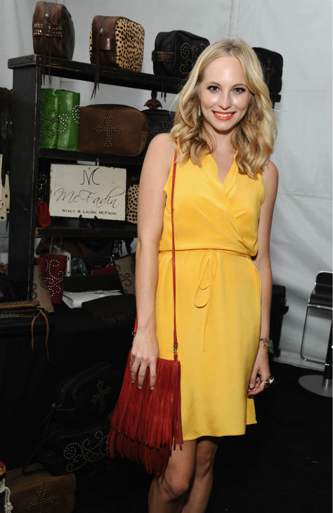 &#39;Vampire Diaries&#39; star Candice Accola appears at Backstage Creations&#39; Celebrity Retreat at the 2012 Teen Choice at the Gibson Amphitheatre in Universal City, California, near Los Angeles on July 22, 2012. <span class=meta>(Angela Weiss &#47; WireImage)</span>