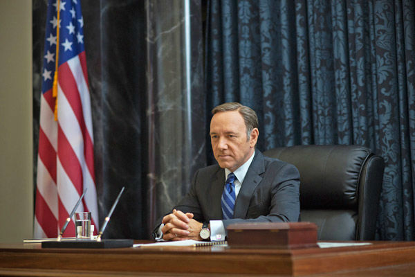 Kevin Spacey appears in a scene from season 2 of Netflix&#39;s &#39;House of Cards.&#39; <span class=meta>(Nathaniel Bell for Netflix)</span>