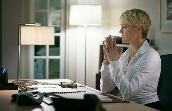 Robin Wright appears in a scene from season 2 of Netflix&#39;s &#39;House of Cards.&#39; <span class=meta>(Nathaniel Bell for Netflix)</span>